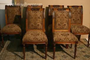 Dining Room End Chairs Upholstered Dining Room Chairs Custom Finish High End Ebay