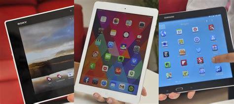 Tablet Sony Dan Samsung the best tablet of 2014 apple vs sony vs samsung pc world australia