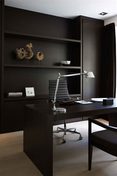 black home office desks 33 chic masculine home office furniture ideas digsdigs