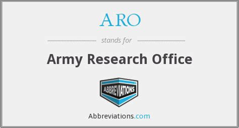 Army Research Office by Aro Army Research Office