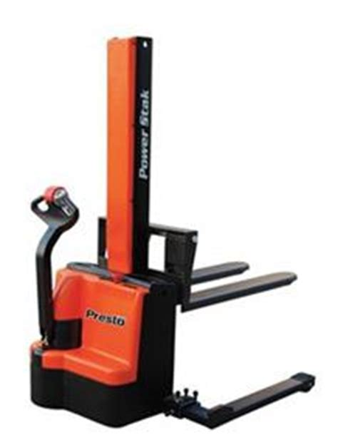 presto powerstak presto lifts powered straddle stacker