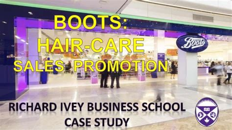 Ivey Mba Login by Ivey Business School Study Boots Hair Care Sales
