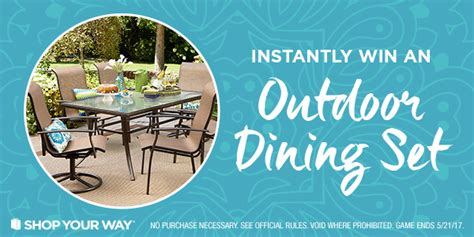 Shop Your Way Instant Win Codes - shop your way premium patio furniture instant win game 5 21 17 1pp18