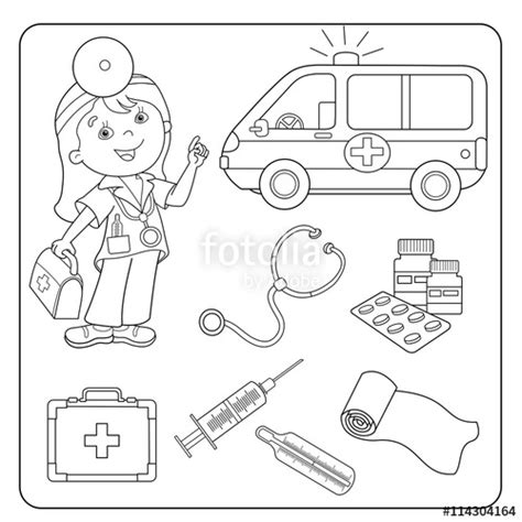 coloring page doctor tools doctor tools coloring pages sketch coloring page