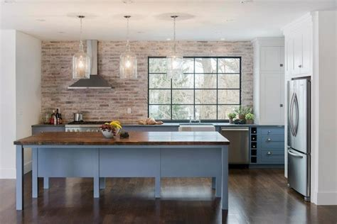 brick backsplash in kitchen brick kitchen backsplash contemporary kitchen pinney