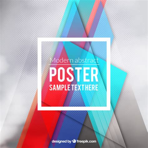 moderne poster modern poster in abstract style vector free