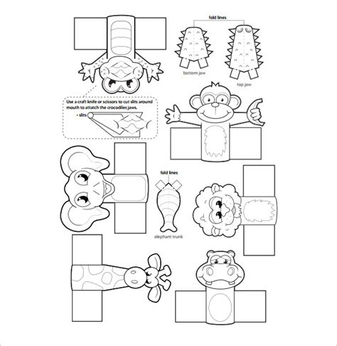 printable jungle paper 11 finger puppet templates free pdf documents download