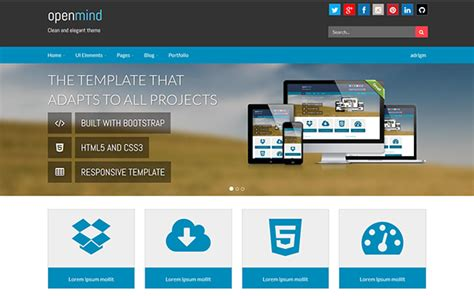 open mind wordpress customizable theme bootstrap