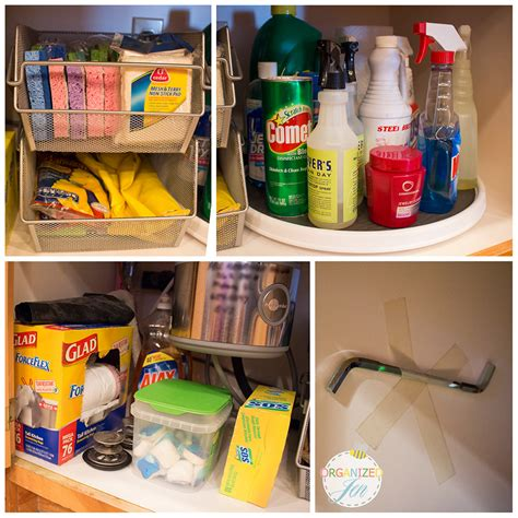 Kitchen Cabinet Cleaning Products The Sink Organization Kitchen Series 2013 Pretty Neat Living