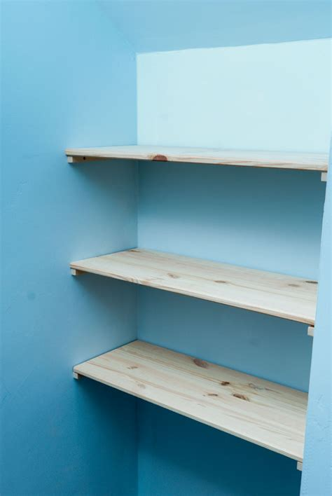 pdf diy how to make wall shelves industrial