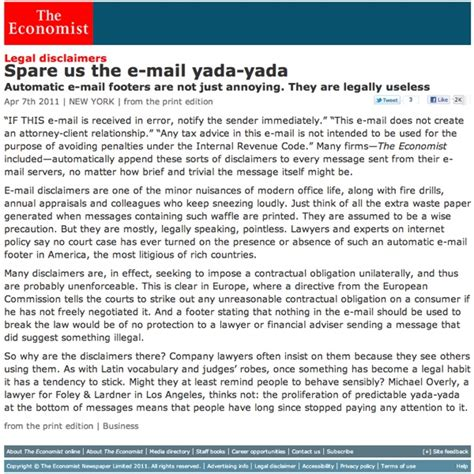 Spare Us The E Mail Yada Yada The Economist   yeah i thought so all along waste of space the paepae