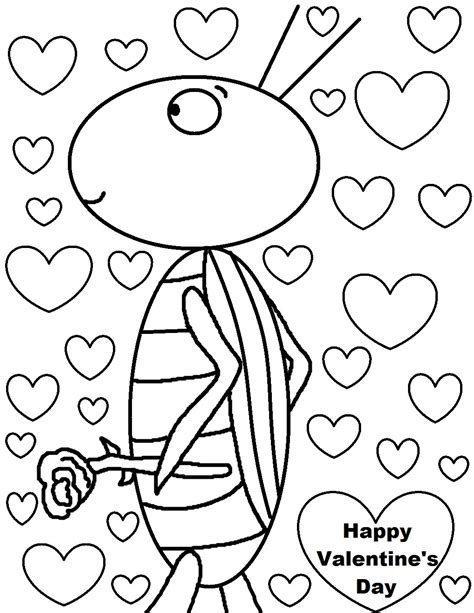 s day colors happy valentines day clipart to color clipground