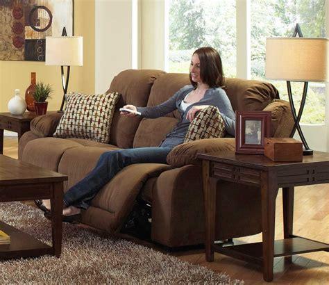 bryson power reclining sofa catnapper 618259 walnut bryson power reclining sofa with