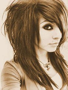 emo choppy layered hairstyles front back and sides ny frisyr auranah