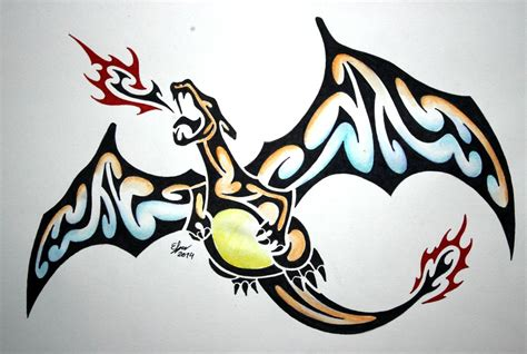 charizard tattoo design tribal charizard by esmeekramer on deviantart