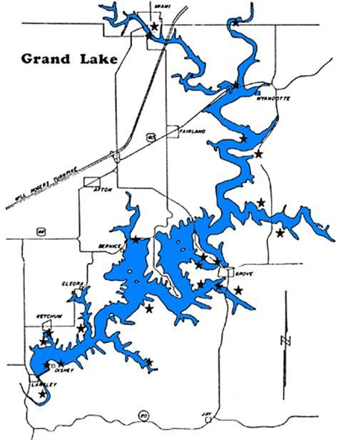 grand map images grand lake map city of grove oklahoma