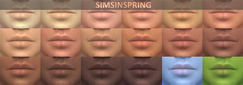 sims 4 default skin replacement my sims 4 blog replacement lips by simsinspring