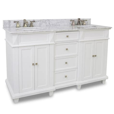 jupiter double sink vanity white