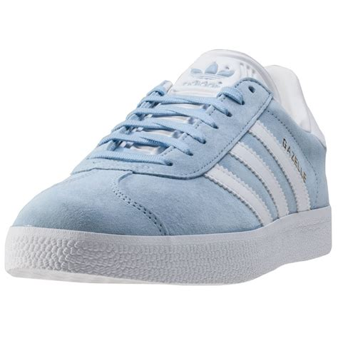 adidas gazelle womens trainers in light blue