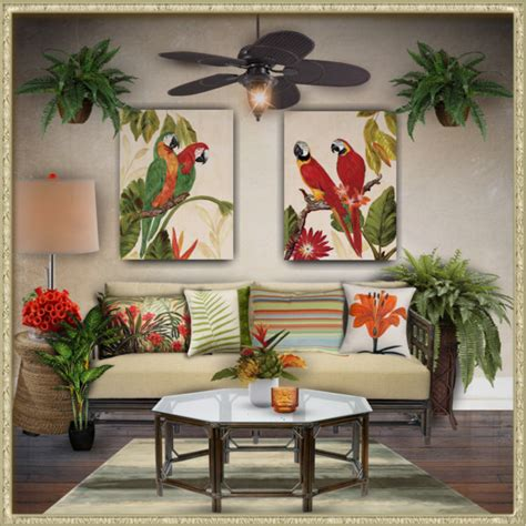 tropical decor polyvore