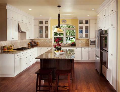 Large Kitchens Design Ideas Bloombety Large Kitchen Island Design With Wooden Chair Large Kitchen Island Design Ideas