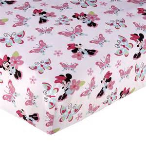 minnie mouse simply adorable fitted crib sheet disney baby