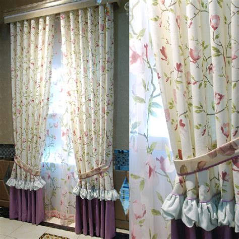floral country curtains fresh country style print floral toile eco friendly curtains