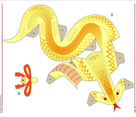 Snake Papercraft - 37 best images about paper craft templates on