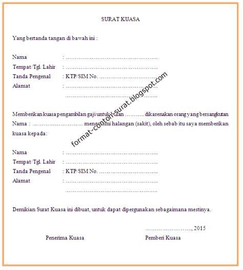 format tanda terima slip gaji contoh surat kuasa pengambilan gaji