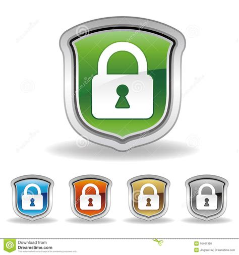 Shields Lock In by Shield And Lock Icon Stock Vector Image Of Door Lock
