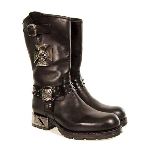 new rock boots biker style mr030 black blue banana uk