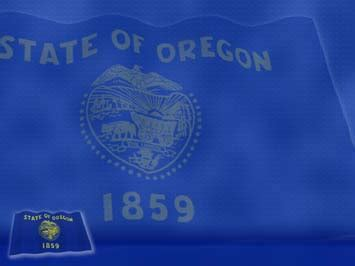 oregon flag 01 powerpoint templates