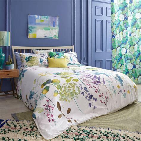 botanical bedding botanical duvet pillowcase set bedding sets bluebellgray