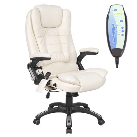 reclining desk chair rio leather reclining office chair w 6 point massage high