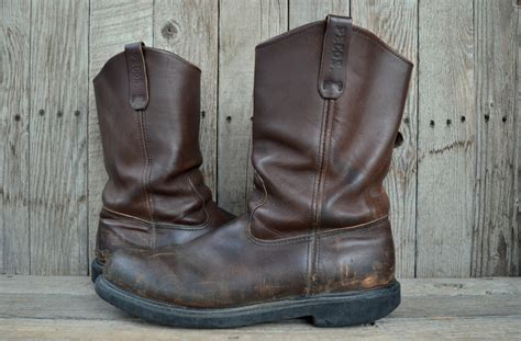 wing pull on work boots vintage wing pecos pull on crepe sole work boots 13 b