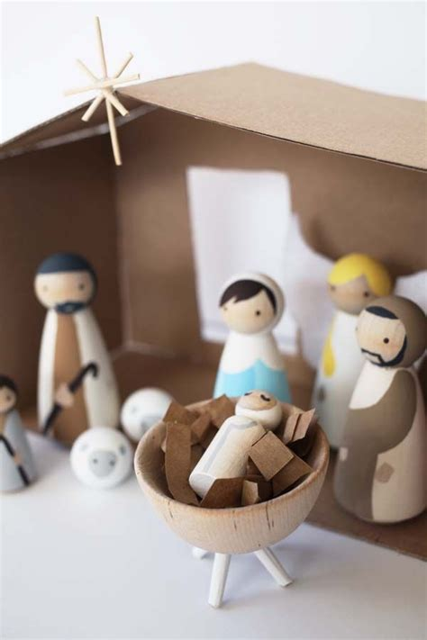 diy nativity wood nativity set woodworking projects plans