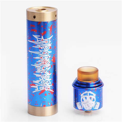 Apocalypse Mechanical Mod Kit Best Product apocalypse 2 style blue aluminum 24 5mm mechanical mod rda kit