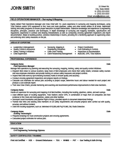 resume template for field field operations manager resume template premium resume