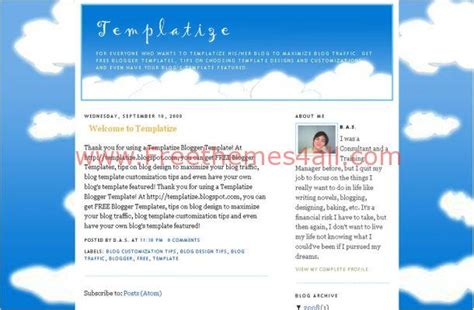 blogger templates for artists clouds art graphic blogger theme download