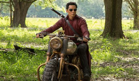 motorcycle from into the badlands into the badlands star daniel wu signs on to the tomb