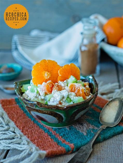 Cottage Cheese On Hcg by P2 Hcg Diet Recipe Sweet Crunchy Salad With Cottage