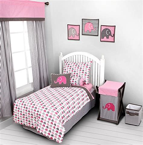 discount toddler bedding sets elephants pink grey 4 pc toddler bedding set discount