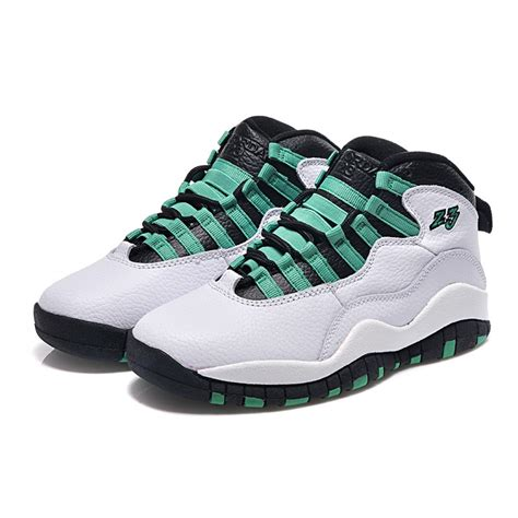jordans sneaker air 10 retro bulls broadway white green