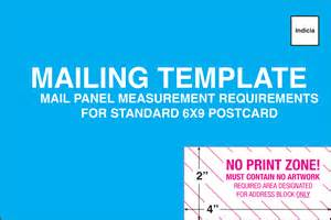 Standard Postcard Template by Mailing Template For 6x9 Postcard Ritters Communications