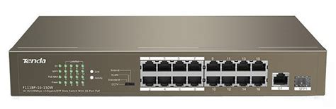 Switch Hub 16 Port Poe hubs switches tenda 16 port ethernet switch with 16 port poe tef1118p 16 150w tenda for