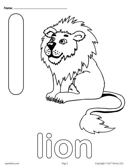Lowercase Letter L Coloring Page by Letter L Alphabet Coloring Pages 3 Free Printable
