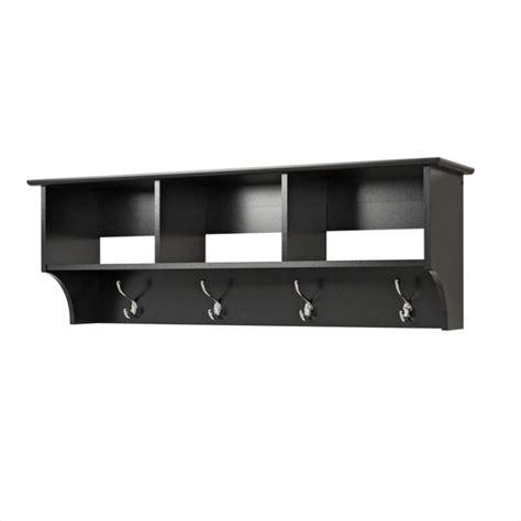 Entry Coat Rack Shelf by Black Cubbie Shelf Wall Coat Rack For Entryway Bec 4816