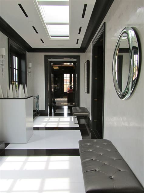 Chic Bathroom Ideas innovative tufted bench mode new york modern hall image