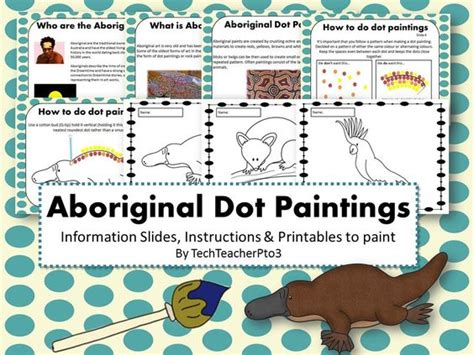aboriginal dot templates for aboriginal dot painting activity information slides