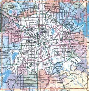 map for dallas dallas area map my